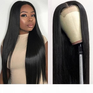 10A Pre-Plucked Straight 13*4 Human Hair Lace Front Wigs Brazilian Hair 360 lace frontal wigs Medium Size Indian Full Lace Human Hair Wigs