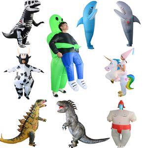 maskot Cadılar Bayramı çocuklar dinozorların Noel şişme kostümler yetişkin kostümleri parti t-rex şişme kostüm göstermek