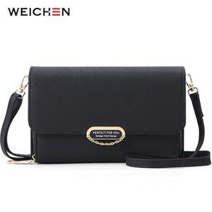 Weichen muchos departamentos pequeña bolsa de hombro bolsas de cuero Crossbody de la Mujer Mini Sac Mensajero Bolsa bolso de las señoras monedero c1011