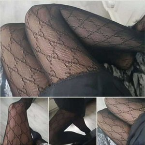 Sexy Frankreich Mode Letters Transparente Strumpfhose Hochflexiable Fisch Netz Strumpfhosen Frauen Strümpfe
