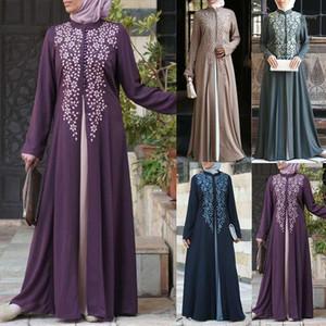 Abbigliamento etnico Bangladesh Dubai Abaya per le donne Abito musulmano pakistan in Pakistan Turco caftano marocchino hijab sera falso 2 pezzi vestiti islamici1