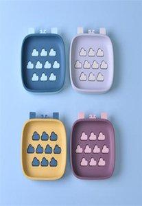 1pc Capa ducha de la caja de herramientas de plástico Drenaje Drenaje doble del sostenedor no Slip Accesorios Soapdish jabón para lavar platos bdetoys Baño bbyZWt