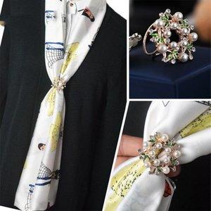 Silk fular toka broş Avrupa ve Amerikan, Japon ve Koreli takı ipek eşarp toka aksesuarları şatafatsız basit