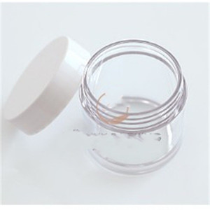 Eye Cream Glass Wax Jar White Lid Separate Bottlings Transparent Bottle Easy To Use Convenient For Travels 3 5qy E2