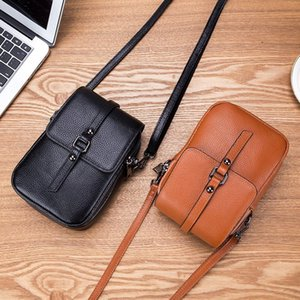 Design mobile phone bag ladies new fashion chain leather diagonal bag ladies casual multi-function mini wild personality small bag gift 9915