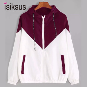 Isiksus Black Windbreak Jacket Women Long Sleeve Hooded Coats Spring Autumn Casual Basic Jackets Plus Size 4xl for Women WJ017 201007