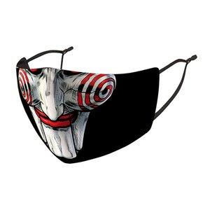 Joker Clown Clown Ice Cream Fashion Face Mask Dust Wind Nebbia e foschia possono sostituire PM2.5 Filtro Filtro 3D Stampato Lavaggio