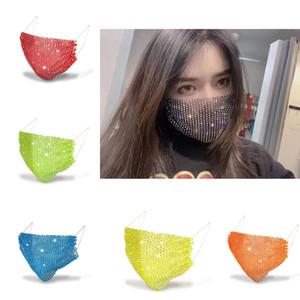 유행 다이아몬드 여름 색 마스크 여성들 New 빛나는 라인 스톤 마스크 2020 신제품 핫 11 색상 무료 배송