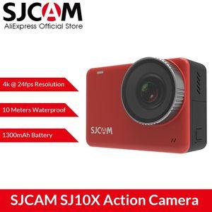 SJCAM SJ10X Action Camera 4K 24FPS WiFi Novatek 96683 Chipset LIVE STREAMINg 10m Body Waterproof 2.33 Touch LCD Sports DV Camera