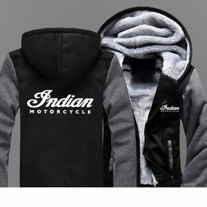 2019 Motorcycle Mens Baseball Uniform Cashmere Hoodie Print Sweatshirts Men Thick Warm Cotton Jacket