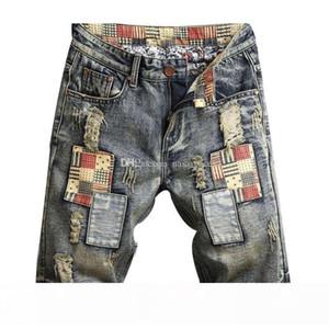 New Mens Ripped Denim Shorts Fashion Men Denim Jeans Slim Straight Pants Trend Mens Stylist Pants