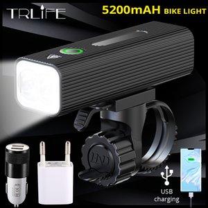 TRLife 5200mAh-Fahrrad-Scheinwerfer als Power Bank 1000lumens USB-Aufladbare L2-Bike-Lichtfront-IPX5 wasserdichte MTB-Bike-Taschenlampe 201027