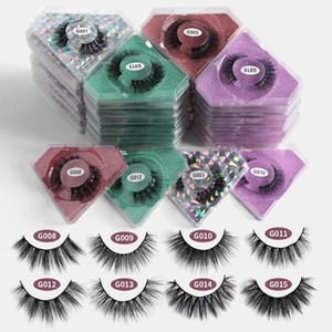 Wholesale 3D Faux Mink Lashes Natural Eyelashes Beauty Eyelashes False Eyelashes Makeup False Eye Lashes Pack In Bulk