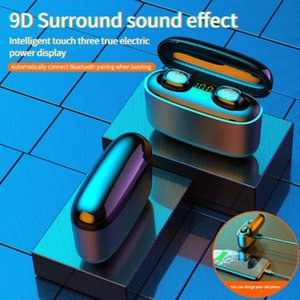 Наушники Наушники 2021 3500MAH LED Bluetooth Беспроводная Наушника TWS Touch Control Спортивная гарнитура Шума Отмена Водонепроницаемый