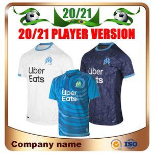 20/21 Player version Marseille Maillot de football 2020 Accueil blanc # 10 PAYET Olympique de football shirt L.GUSTAVO THAUVIN GERMAIN Uniformes de football