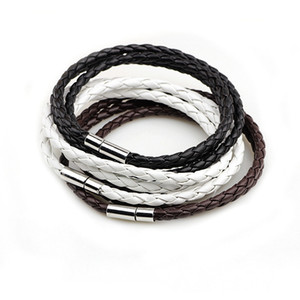 New Fashion PU Braided Leather Bracelet Men Bracelet for Women Jewelry Multilayer Leather Clasps Charm Bracelet