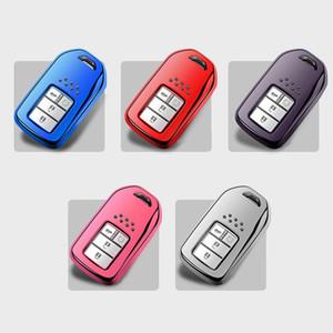 Soft TPU Car Key Case Cover Shell Keychain For Honda Accord Crider Vezel Spirior Odyssey Jazz HRV CRV Freed Jade Civic Fit City