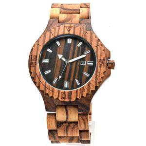 Fashion Men's Quartz Modern Wooden Japan 2035 Movement Sandalwood Watch