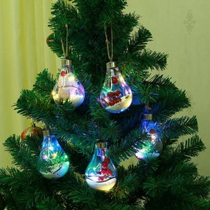 Selling Led Christmas Hanging Plastic Ball Sphere Christmas Balls On The Tree Christmas Tree Light bulb Decoration Light OWB2289