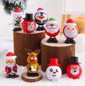 Рождественские подарки Пластиковые Windup Игрушка Санта-Клаус снеговика Clockwork игрушки дети прыгают Подарочные Мультяшные персонажи Моделирование рождественские подарки FWA1609