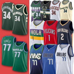 Doncic Antetokounmpo DallasMavericks Giannis Luka Jersey New jersey MilwaukeeBuck Zion Lonzo Williamson Bola Orleanspelicanos