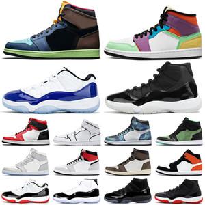 air jordan retro 1 11 aj1 aj11 jumpman scarpe da basket 11s Bred Cap and Gown Concord 1s UNC Obsidian Union donna sneaker sportiva da uomo