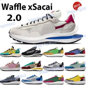 와플 패션 운동화 항해 투어 노란색 문자열 검정, 녹색 멀티 금 보라색, 파란색 스포츠 트레이너 보르도 신발 2.0 망을 실행 xsacai