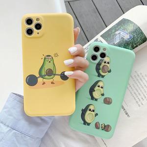 Avocado Cartoon Cute Soft Coque Phone Cases For iPhone cute cartoon fruit Soft silicon phone case