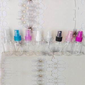 100pcs 50ml clear Mosquito Repellent Spray Nozzles Cap Bottles Empty Liquid Oil Fragrance Mist Diffuser Facial Hydrating Bottle