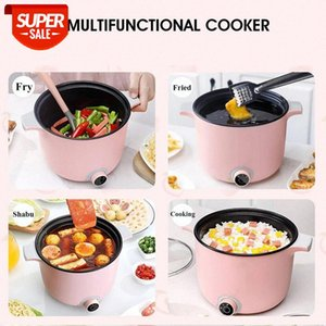 Becornce 1.5L 220V Portable Multifunction Electric Cooker Hot Pot Frying Fired Food Stewing Pot Mini Rice Cooker Visible Glass #G78w