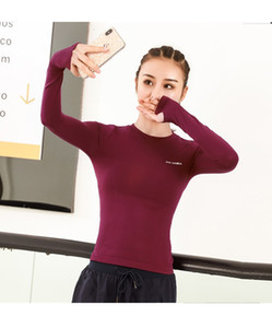 Linksky fitness long sleeve Yoga suit women's Nylon slim stretch running T-shirt