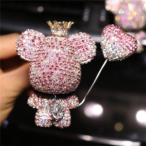 Valentine'S Day Car Creative Bear High-End Diamond-Studded Car Air Outlet Perfume Violent Bear Car Air Conditioning Aromatherapy Decoration