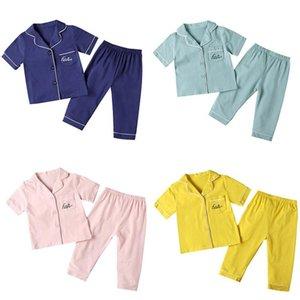 высокое качество Детские пижамы для девочек Пижамы Короткие Top + Длинные брюки Дети Pijama INFANTIL мальчиков пижамы для детей домашней одежды Одежда