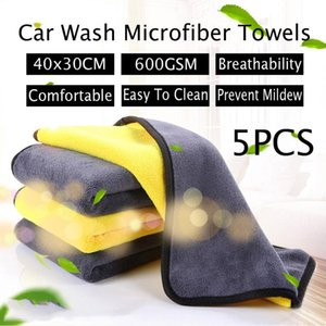5 super absorbent car washing microfiber towel car cleaning fabric dry towel car care