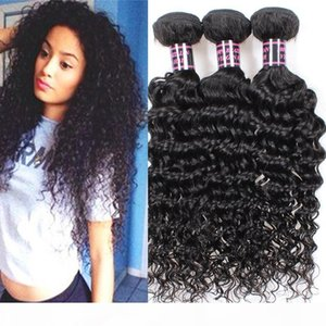 3Pcs Lot Brazilian Deep Wave Virgin Hair,Best Hair Products Human Hair Weaves