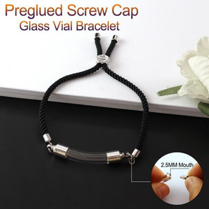 1PC Glass Vial Pendant Bracelet Curved Tubes Name On Rice Finding DIY Bracelets Charm Bracelets Unique Gifts1