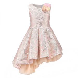 Enfantdkivy Sans manches Asymétriques Filles Princess Robe Automne Enfants Fête Robes Pour Filles Enfants Vêtements Robes De Ball W1227