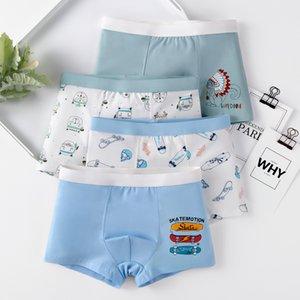 4 قطعة / الحزمة الأولاد الكرتون سراويل داخلية القطن للأطفال عارضة الصبي لطيف سراويل في سن المراهقة السلس underpants toddler boxers 3- LJ200911