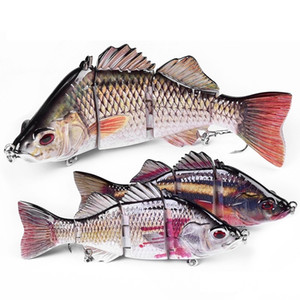 14cm 63.8g 4SectionTop Water Fishing 3D Simulation Eyes Multi Jointed Lure Bait