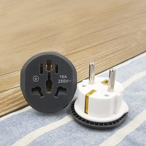 Universal EU Plug Converte 2 Round Pin Socket AU US UK CN To EUs Wall Sockets AC 16A 250V Travel Adapter