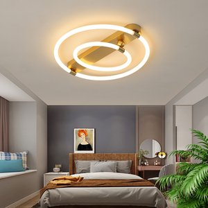 New Arrival Gold LED Ceiling Chandelier Lamp For Living Study Room Bedroom kitchen Modern Simple Square Home Lighting Fixture