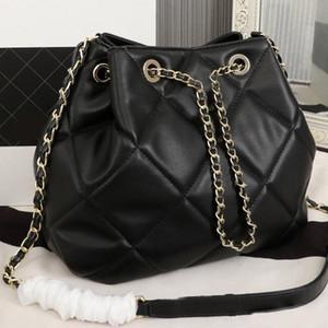 Tek Omuz Çantası Sırt Çantaları Tasarımcı Çanta Mini Kova Çanta Tek Omuz Çantası Lady Çanta Zincir İpli Deri Altın Donanım Hig