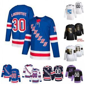 Custom New York Rangers Brett Howden Chris Kreider Connor Brickley Filip Chytil Igor Shesterkin Jacob Trouba 2020 Hockey Jersey Puntada de las mujeres