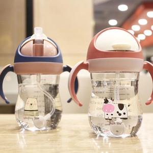 240ml bébé Drinkware petit animal bébé Apprendre à boire Coupe Enfants Bouteille Coupes de paille Anti-Choke Bouilloire pour # lkasm Nouveau-nés