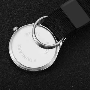 Portable Carabiner Pocket Watch Compass Nurse Pocket Watch Quartz Watch Carabiner Lock Multifunctional Outdoor Survival Tool EEF4290