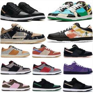 Dunky Plat-form Ayakkabı Chunky Dunky Siyah Beyaz Varsity Kraliyet Moda Ayakkabı Kırmızı Beyaz Çimento Çam Yeşil Kadınlar Casual Spor ayakkabılar Running Tie-boya