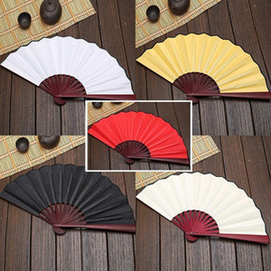 Large 33cm Folding Fan Blank Cloth Bamboo Hand Fans DIY Craft Art Painting Fan Gifts wen6896