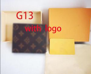 2020 NEUE L BAG Freies Verschiffen Kostenloser Versand Billfold Hohe Qualität Plaid Muster Frauen Geldbörse Männer Püre High-End Luxus Designer L Brieftasche mit Box Handtasche