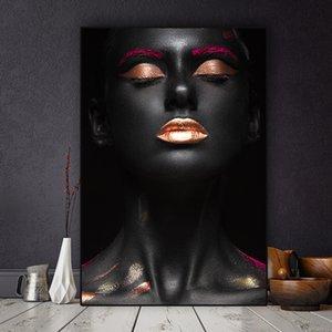 Холст Pictures Home Decor Живопись стена Искусство печать 1 шт Nude африканской женщина Современной Poster Modular Живопись
