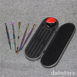 Dabber tool kit come with silicone jar container quartz banger Silicone water pipe bong nectar collector wax dabber tool